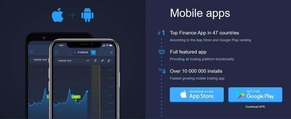 ExpertOption Mobile platform